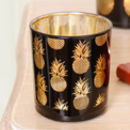 Contemporary Pineapple Glass Candle Holder