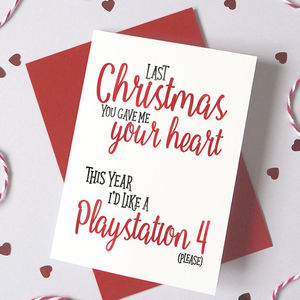 Personalised I'd Rather Have For Christmas…Card - cards & wrap