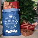 Personalised Denim Christmas Sack