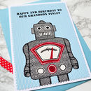 'Robot' Personalised Boys Birthday Card