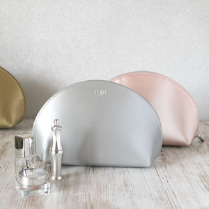 Personalised Metallic Leather Make Up Bag - make-up bags