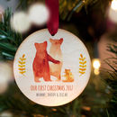 Couple's Or Baby's First Christmas Bear Family Bauble