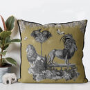 Lion Cushion In Honey Gold
