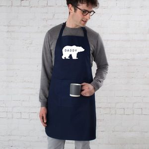 Personalised Daddy Bear Apron - summer sale
