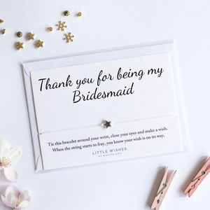 A Handmade Little Wish Bracelet Gift For Bridesmaid