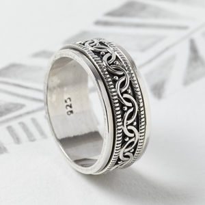 Celtic Silver Spinning Ring