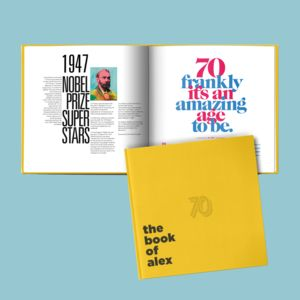 A Personalised 70th Birthday Gift Book