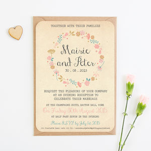 Autumn Floral Evening Invite - invitations