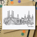Barcelona Skyline Cityscape Greetings Card