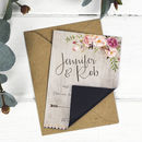 Boho Floral Wedding Save The Date Card Or Magnet