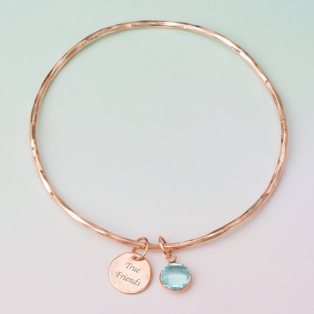 Personalised True Friends Bangle