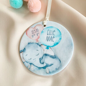 Newborn Baby Elephant Bauble
