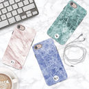 Marble Personalised Initials iPhone Case