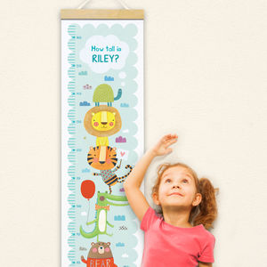 Personalised Animal Height Chart - children's room accessories