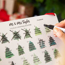 Personalised Mr And Mrs Reusable Advent Calendar