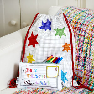 Doodle Backpack And Pencil Case Set Colour And Design