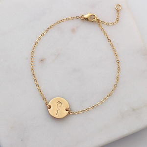 Botanical Rose Bracelet In Gold