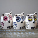 Handmade Small Ceramic Owl