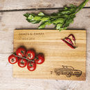 Just Married Personalised Oak Chopping, Serving Board