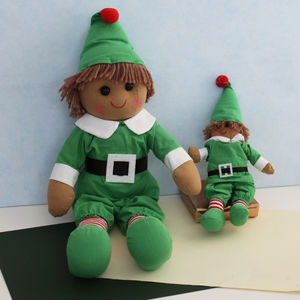 Christmas Elf Rag Doll - new lines added