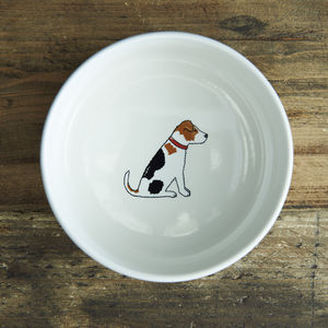 Jack Russell Dog Bowl - stylish pet accessories for the home