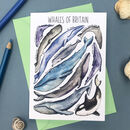 Whales Of Britain Art Blank Greeting Card