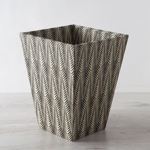 Decorative Wastepaper Bin And Clear Liner - wastepaper bins