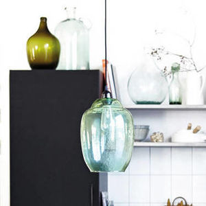 Green Glass Lamp Shade - lampshades