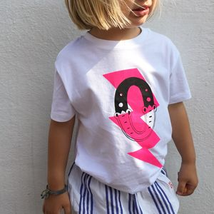 Kids Personalised Superhero White T Shirt - clothing