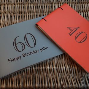 Engraved Leather Birthday Guest Book