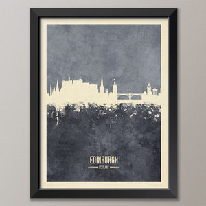 Edinburgh Skyline Print And Box Canvas