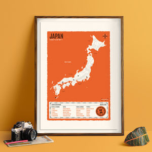 Personalised Map Of Your Travel Adventures Screen Print - activities & sports