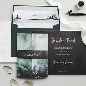 Winter Wedding Invitation - enchanted wedding trend