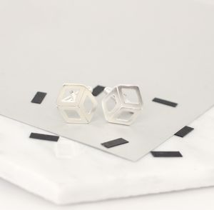 Personalised Cube Deco Cufflinks - men's accessories
