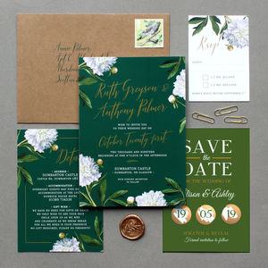 Irish Greenery Wedding Invitation Suite