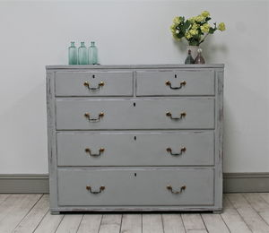 Distressed Oak Georgian Chest Of Drawers