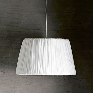 Plisse Silk Lamp Shade - office & study