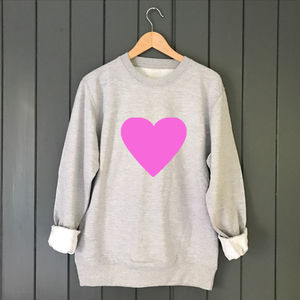 Neon Heart Slouchy Custom Sweat - jumpers & cardigans