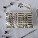 'abc' Printed Fabric Pencil Case