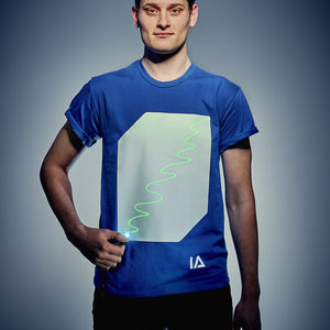 Unisex Interactive Green Glow Tshirt In Royal Blue