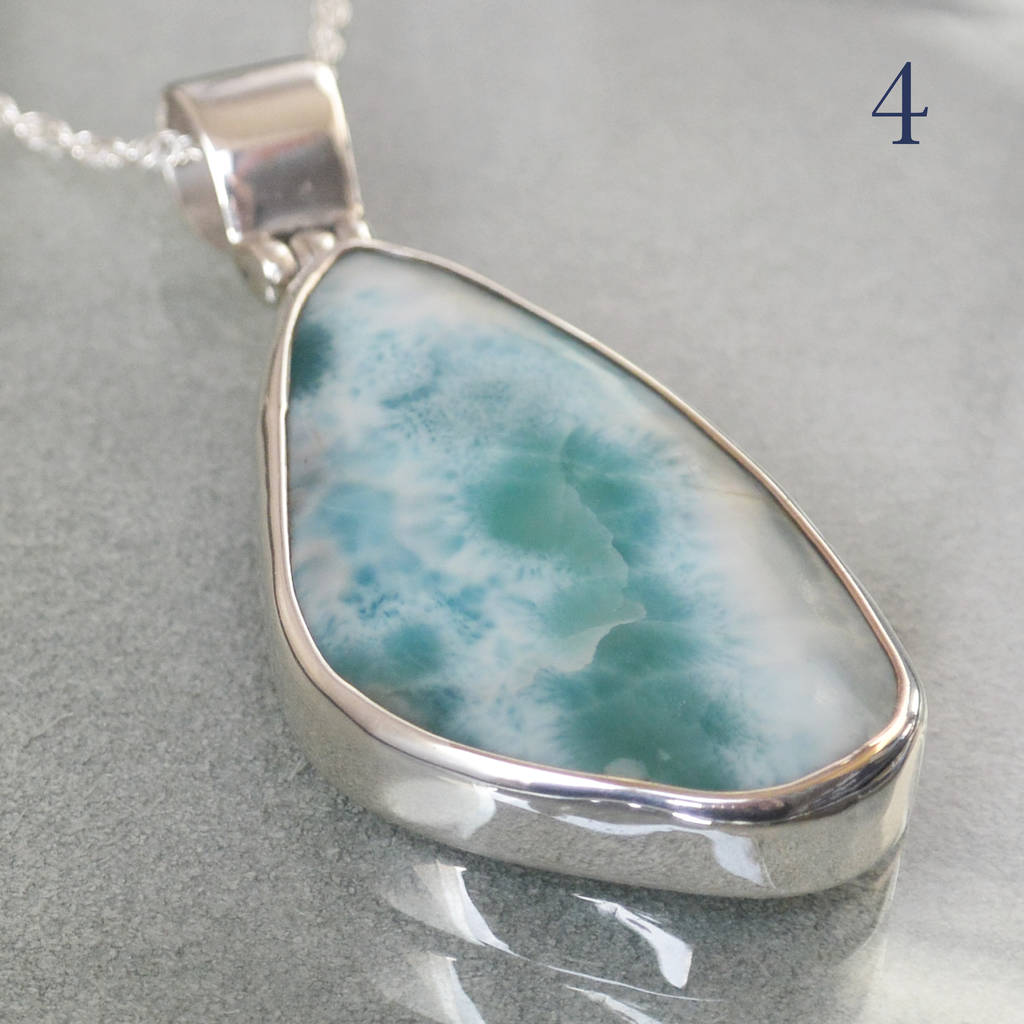 Larimar pendant set in sterling silver by gilbert and skeggs larimar pendant set in sterling silver aloadofball