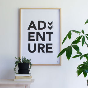 'Adventure' Poster - posters & prints for children