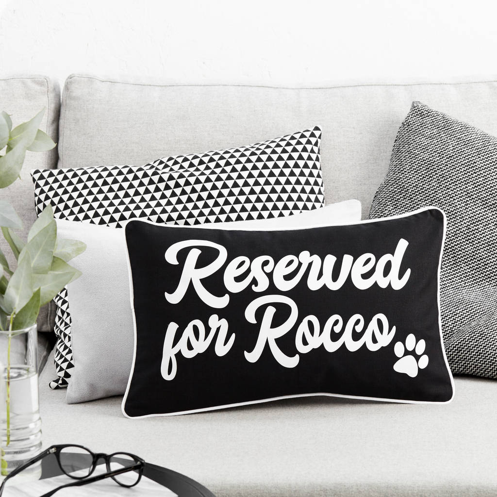 Personalised Reserved For Boudoir Pet Cushion