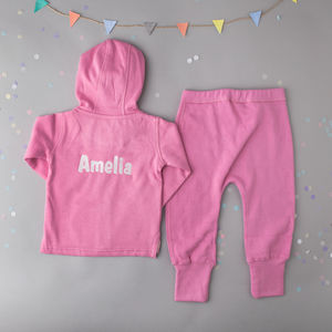 Personalised Baby Tracksuit - personalised
