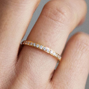 Fairtrade Eternity Half Diamond Cherish Ring - proposal ideas