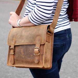 Personalised Mini Leather Satchel - satchels