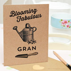 Gran 'Blooming Fabulous' Personalised Card - cards, ribbon & wrap