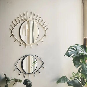Large Gold Open Eye Mirror