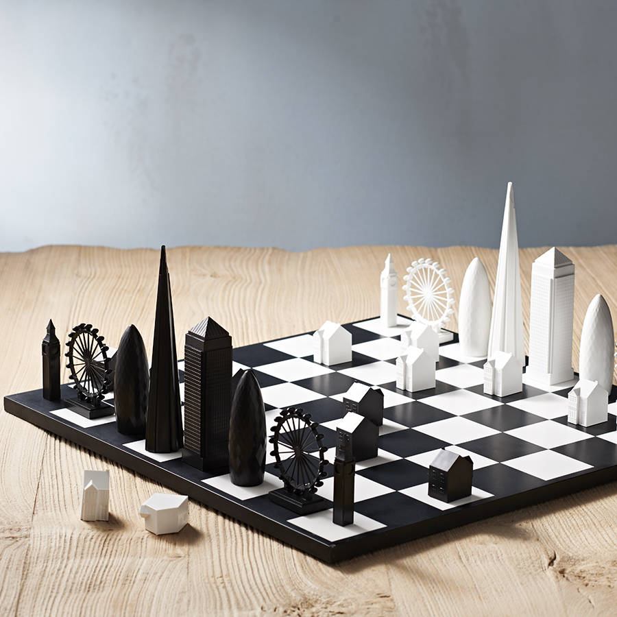london skyline architectural chess set by skyline chess ...