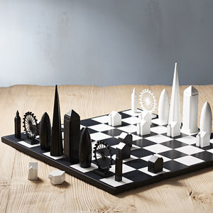 London Skyline Architectural Chess Set - gifts for fathers